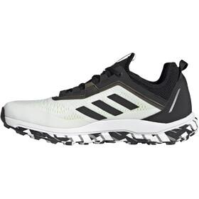 adidas TERREX Agravic Flow Trail Running Shoes Men, feather white/core black/solar yellow